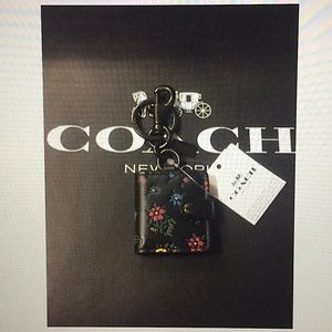 COACH - PICTURE FRAME BAG CHARM W/WILDFLOWER PRINT